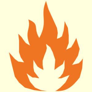 Symbol Feuer Brandschutzhelfer Feuerlöscher